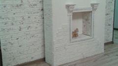 Как сделать декоративный камин из старого шкафа своими руками