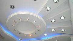 Как смонтировать точечные светильники для гипсокартонных потолков