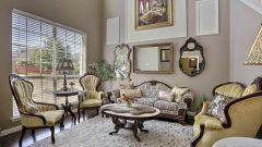 Как обустроить интерьер гостиной в античном стиле