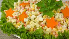 Какой салат можно сделать из крабовых палочек и кукурузы