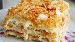 Как приготовить торт «Наполеон» из готового слоеного дрожжевого теста