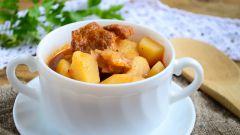Как приготовить тушеную картошку с мясом