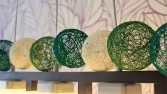 Как сделать гирлянду из ниточных шариков