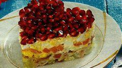 Как сделать салат «Гранатовое сердце»