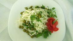 Как приготовить постный салат из капусты