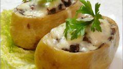 Как приготовить картофель, фаршированный грибами