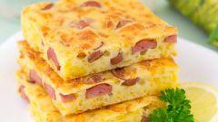 Как приготовить самый простой и быстрый пирог с сыром и колбасой