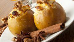 Как приготовить яблоки с творогом в духовке