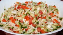 Как приготовить простой овощной салат