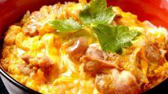 Как приготовить ояко донбури (рис с курицей и яйцом)