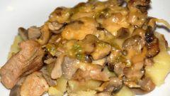Как просто сделать жаркое с грибами и мясом с фото пошагово