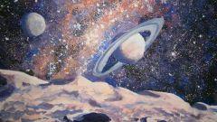 Как нарисовать космос акварелью и гуашью