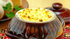 Как приготовить картофель с сыром в горшочке