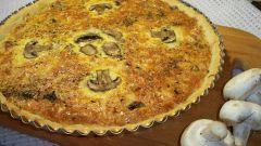 Как приготовить простой наливной пирог с курицей и грибами