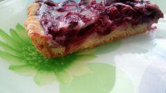 Как сделать вкусный вишневый пирог без яиц