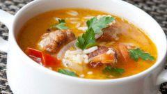 Как сварить суп с бастурмой и двумя видами риса