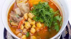 Как приготовить суп из турецкого гороха с корейкой