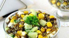 Как приготовить вкусный салат из морской капусты с крабовыми палочками и кукурузой