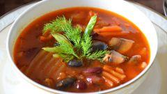 Как сварить суп из баранины и печеного перца