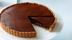 Как испечь тарт с шоколадной начинкой