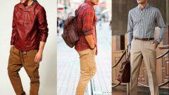 Как правильно носить мужские бежевые брюки