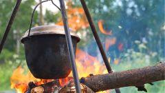 Как просто приготовить ужин на костре