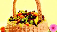 Как испечь торт «Корзина изобилия»