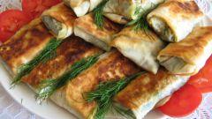 Как приготовить блинчики с яйцом и луком из лаваша