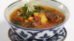 Как приготовить узбекскую шурпу с нутом