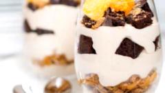 Кофейно-шоколадный трайфл с апельсиновым мармеладом