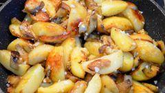 Как приготовить жареную картошку с баклажанами