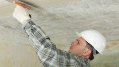 Как сделать шпаклевку потолка своими руками
