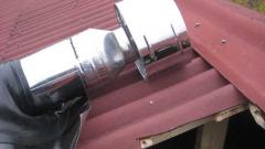 Как сделать монтаж дымохода из сэндвич-труб через крышу