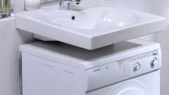 Как сделать установку раковины над стиральной машиной