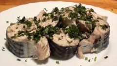 Как приготовить вкусную маринованную скумбрию с чесноком и луком