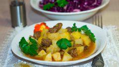Как приготовить тушеную картошку с говядиной в мультиварке