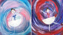 Как нарисовать балерину поэтапно гуашью