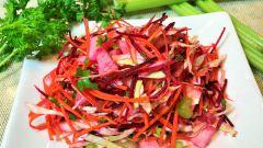 Как приготовить полезный витаминный салат из моркови и свеклы