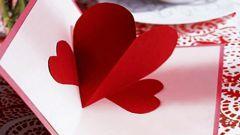 Как просто сделать объемную открытку-валентинку