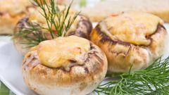 Как приготовить сырные грибы