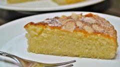 Как приготовить нежный миндальный бисквит