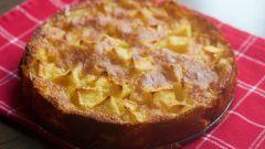 Творожно-яблочный пирог в духовке