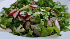 Салат из редиски для любителей острого
