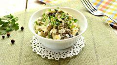 Салаты с курицей и грибами: пошаговые рецепты с фото для легкого приготовления