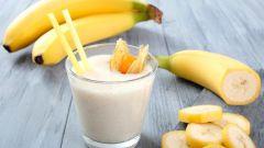 Рецепт молочного коктейля с мороженым и бананом