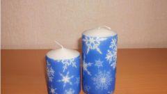 Как сделать своими руками подарок к Новому году: декупаж свечки