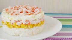 Салат с крабовыми палочками и рисом: пошаговый рецепт с фото