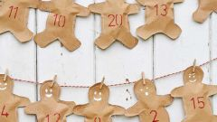 Как сделать адвент-календарь «Пряничные человечки»