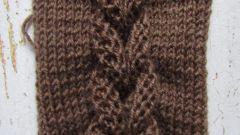 Как связать объемную косу спицами