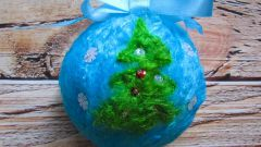 Как свалять елочный шар